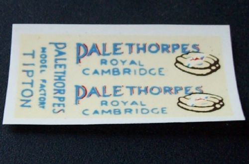 "Dinky Toys 28 Series Type 1 van ""PALETHORPES SAUSAGES"" Transfer Set TRANSFERS / DECALS"